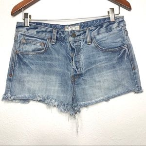 Free People Jean Shorts Size 28